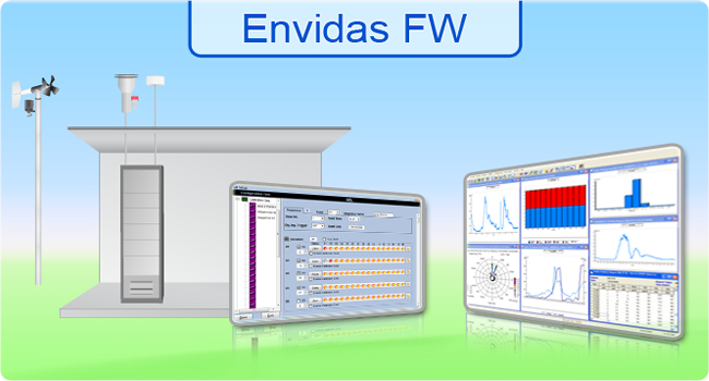 <h3>Envidas For Windows</h3>Envidas for Windows, a trademark of Envitech Europe, is environmental data acquisition system includes a set of software programs designed to perform data management and air monitoring for AQM/CEM system.