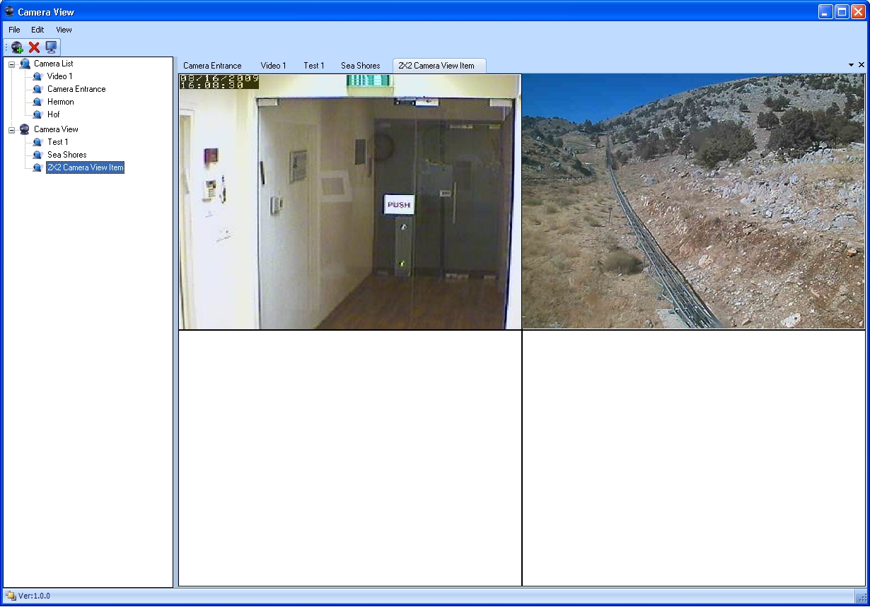 Envitech Europe Envidas Ultimate Camera View Reflecting 2 live video images, one from the outside of a CEM/AQM station and one from the inside of another CEM/AQM site
