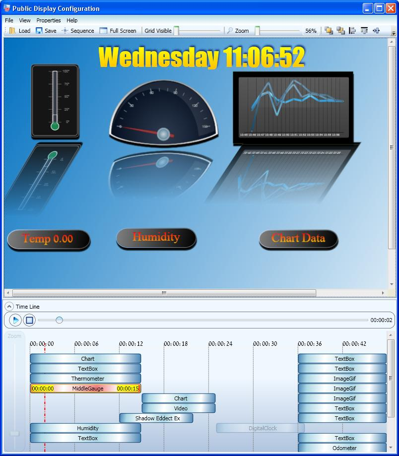 Envitech Triple-D Time Panel Example. Pay attention that the time panel field exists in the lower part of the picture